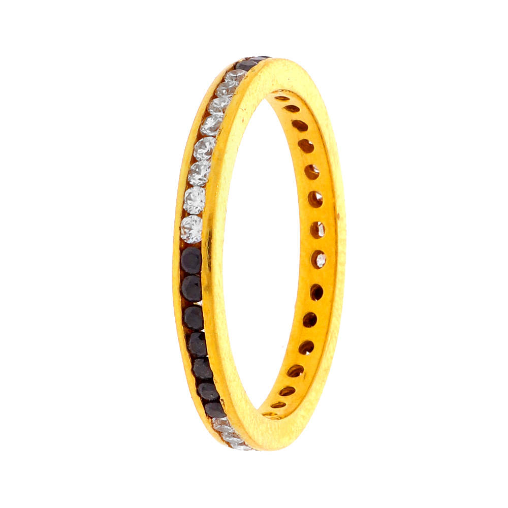 Gemstone Rings Glossy Finish Eternity Band Design CZ With Synthetic Colour Stone Studded Gold Ring 18181407-1.jpg