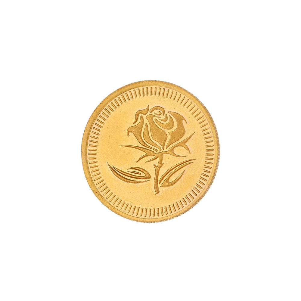20 Grams 24kt (999) Purity Rose Floral Gold Coin-JPAUG-17-070-24-20