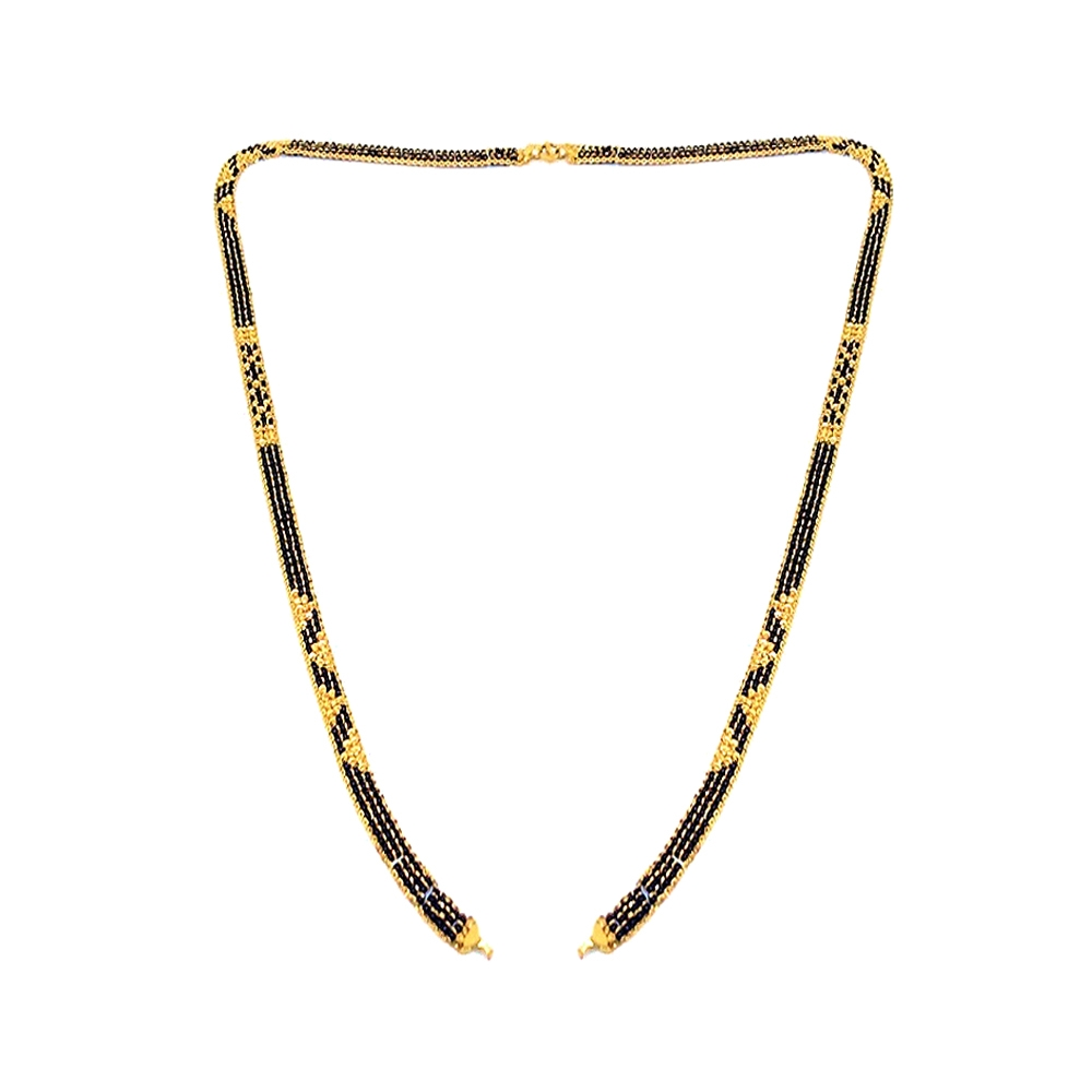 Traditional Bead Daily Wear Yellow Gold 22kt Mangal Sutra -145-MS875