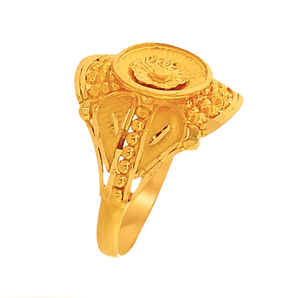 Gold Ceremonial Textures 22kt Yellow Gold Ring-145-RG4505 RG4505-1.jpg