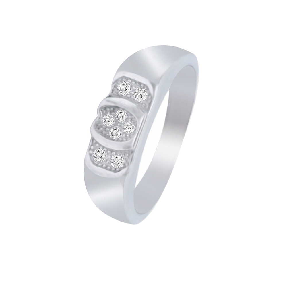 Elegant CZ Contemporary Daily Wear 925 Silver Ring For Him -145-SRG334