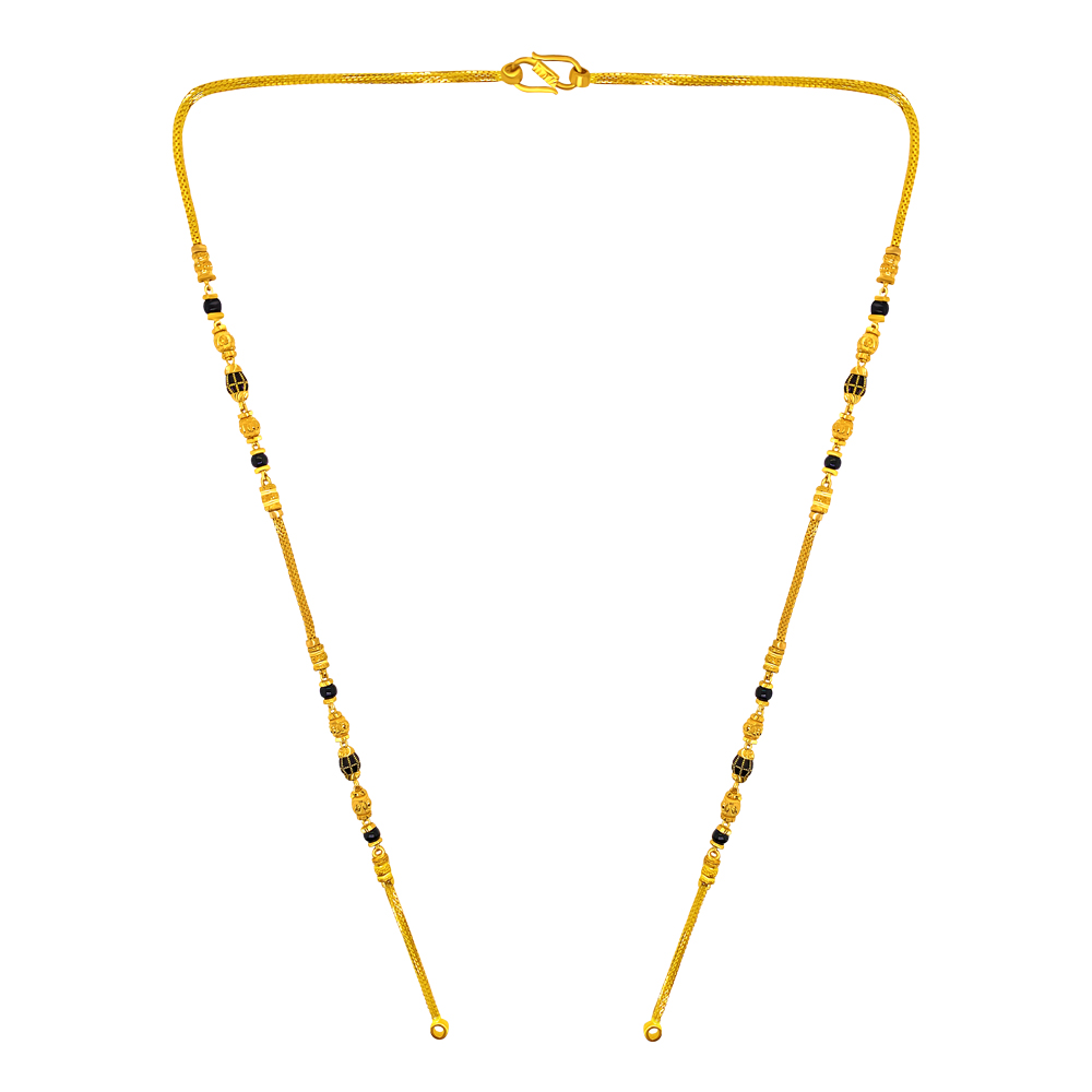 Traditional Textured Bead Gold Mangalsutra