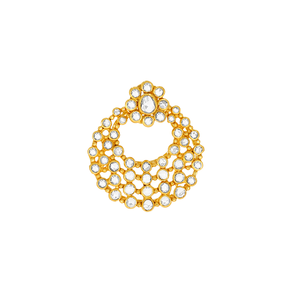 DazzlingTr Traditional Daily Wear Yellow Gold 22kt Pendants-175-UP359