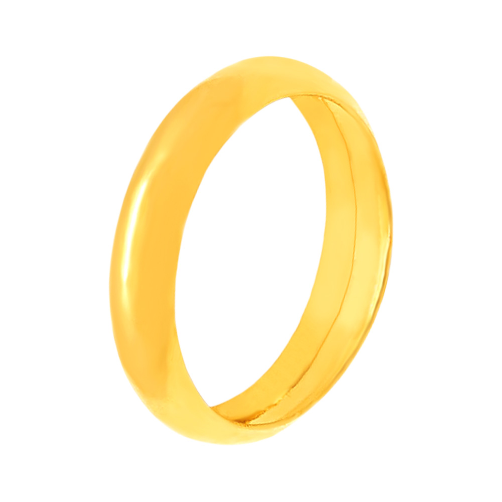 Elegant Glossy Finish 22kt Yellow Gold Ring-185-AFRNG-0062