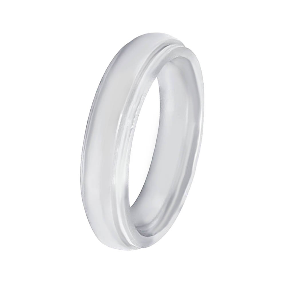 Elegant Glossy Finish White Silver 925 with CZ Ring-185-AFSLRNG-0047