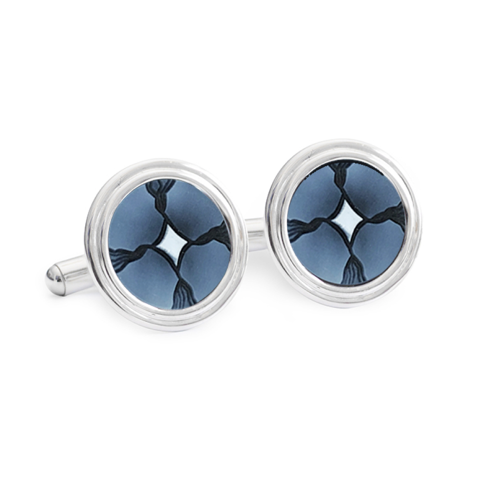 Silver Abstract Cameo Cufflinks