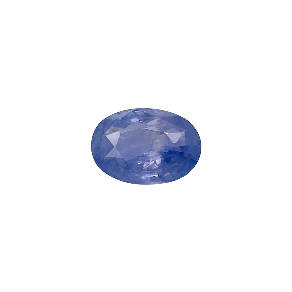 Natural 4.25 Carat Oval Faceted Blue Sapphire Gemstone