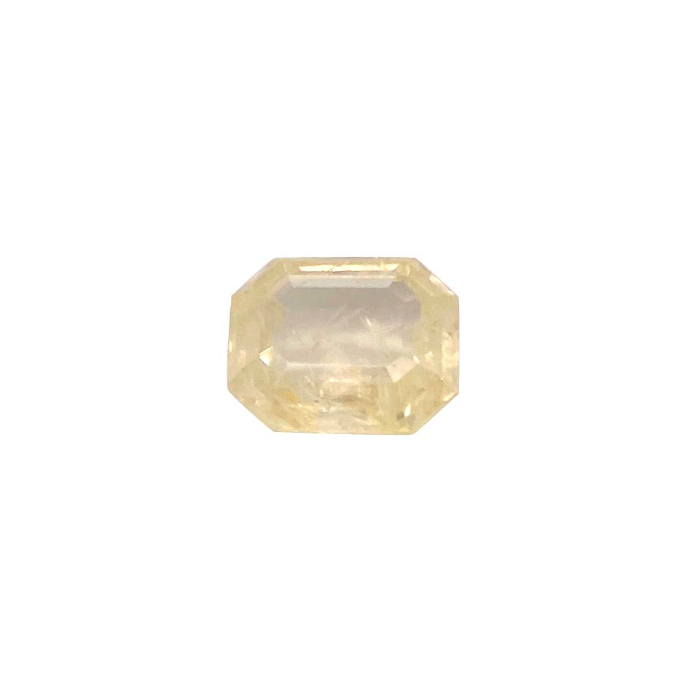 Natural 9.02 Carat Emerald Faceted Yellow Sapphire Gemstone