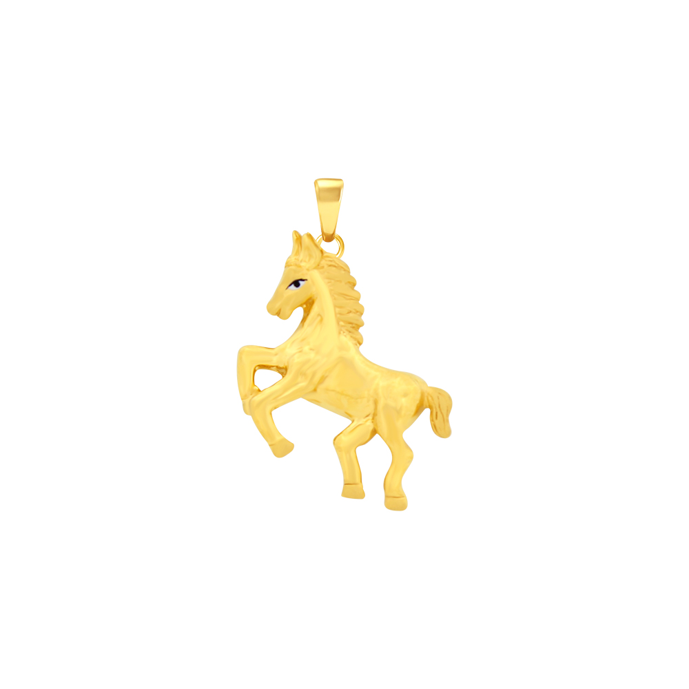 Chaming Horse Daily Wear Gold Pendant For Him