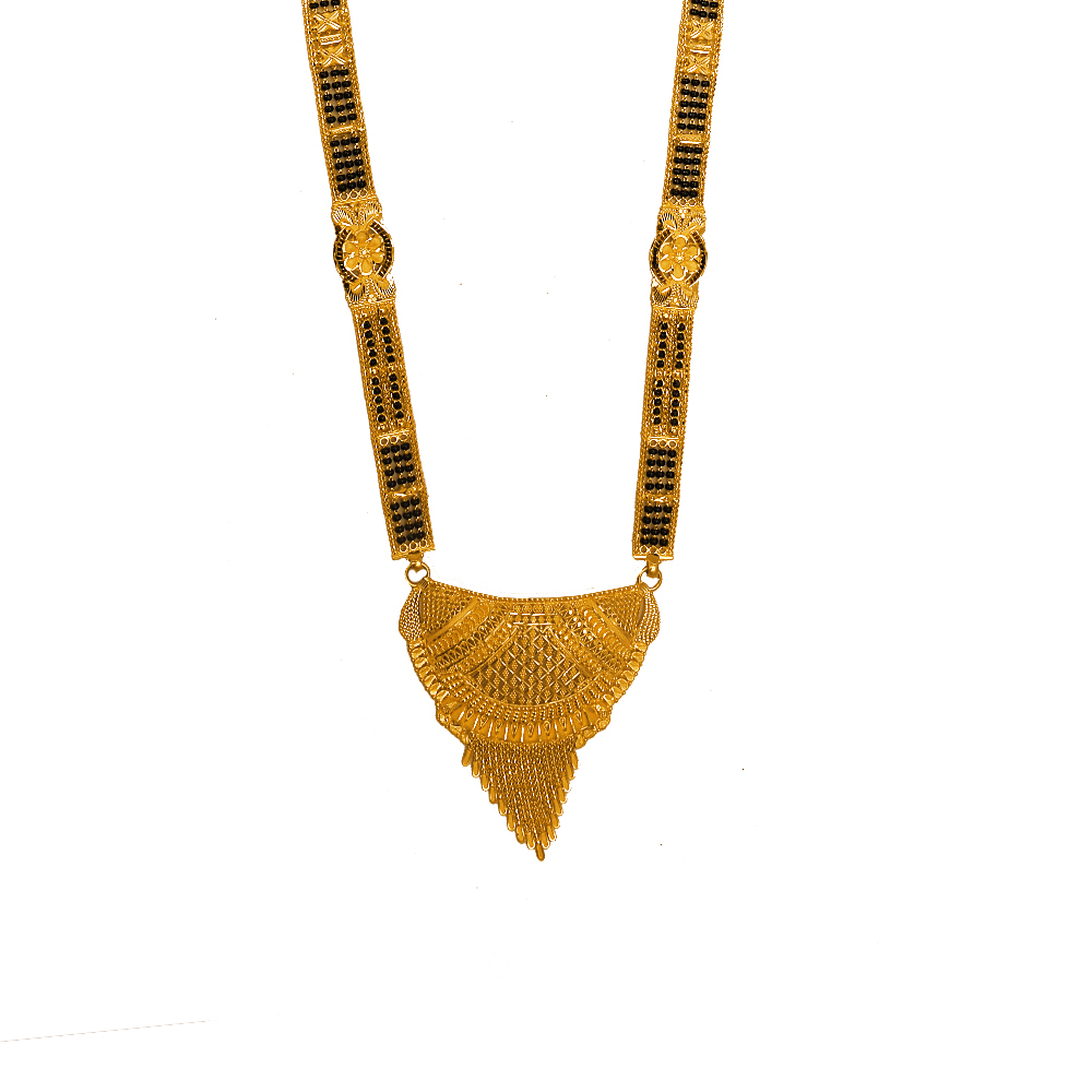 Attractive Engraved 22kt Gold Mangalsutra-MS9675