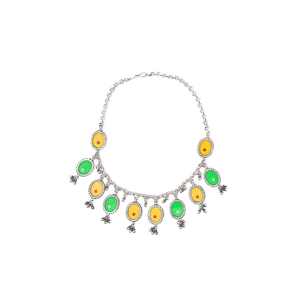 Trendy Enamel Dangler Necklace