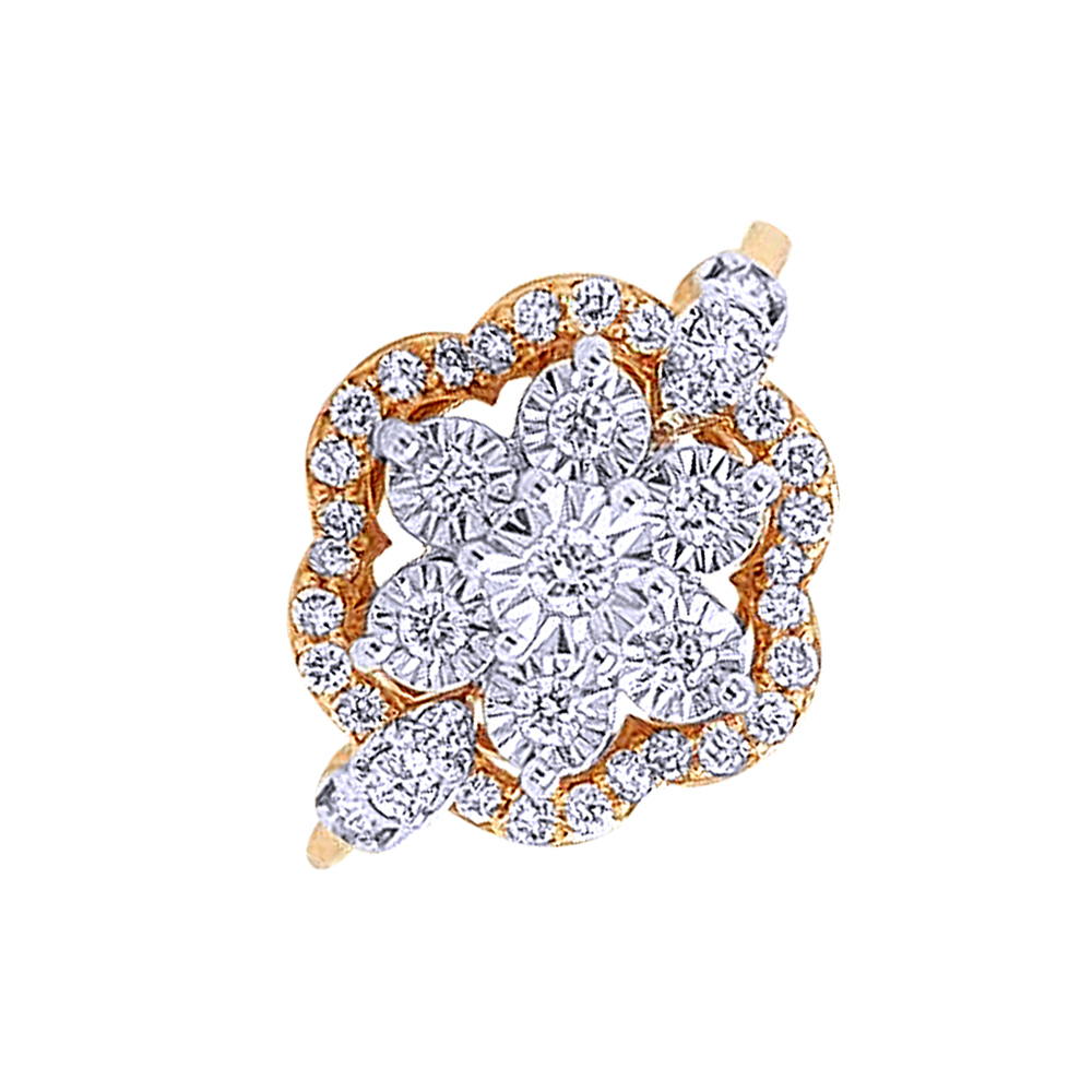 Sparkling Miracle Set Framing Diamond Rose Gold Ring-DR_3831