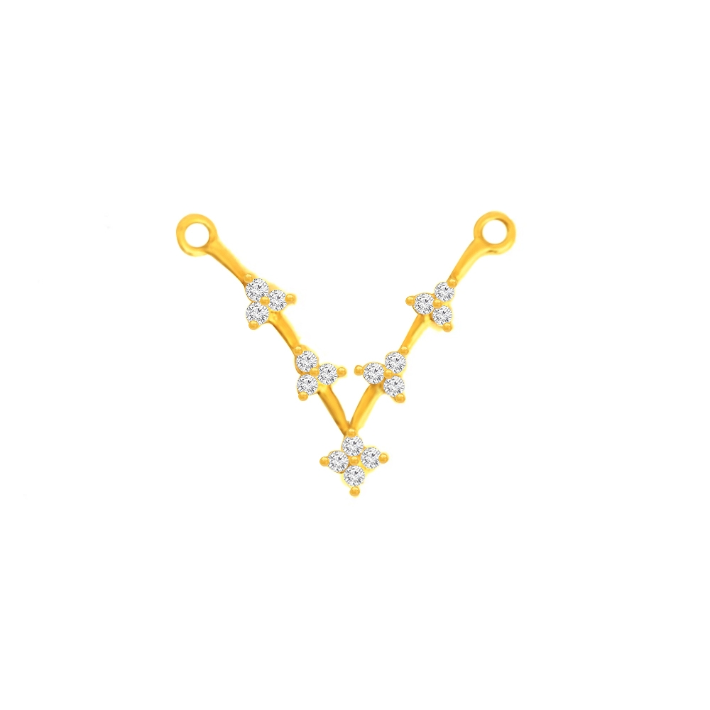 Elegant Contemporary CZ Daily Wear Yellow Gold 22kt Tanmaniya -275-120034016