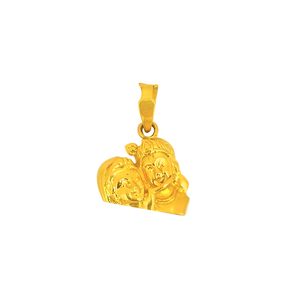 Religious Radha Krishna Daily Wear Yellow Gold 22kt Pendant -275-120054800