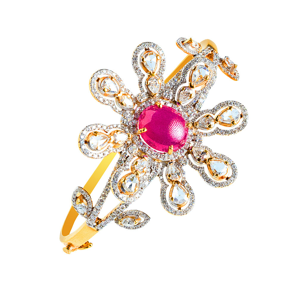 Gemstone  Fashion Party Wear Yellow Gold 18kt with Ruby  - 281-AABR1 AABR1-1.jpg