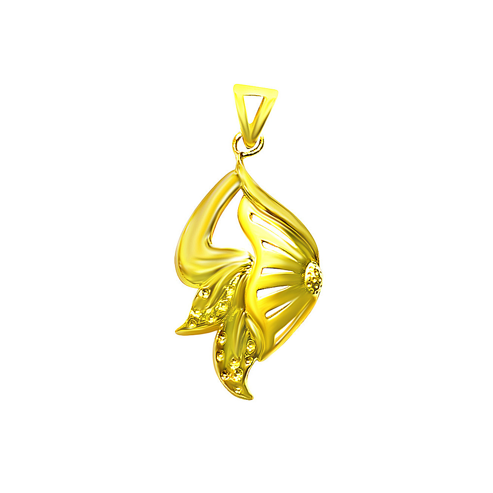 Unique Cutout Gold Pendant