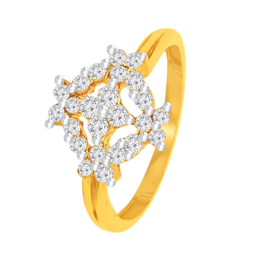 Sparkling Daily Wear Yellow Gold 22kt with CZ Diamond Ring -289-GULR07