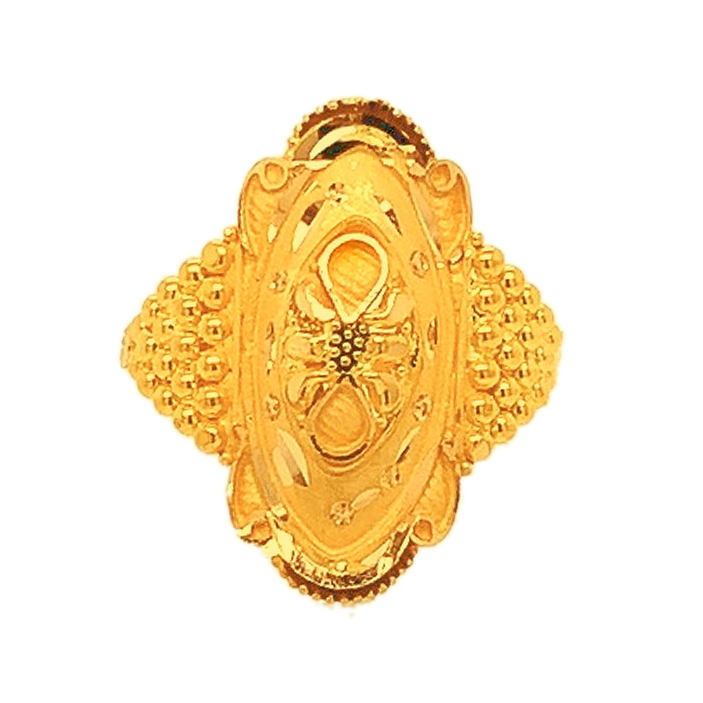 Traditional Daily Wear Yellow Gold 22kt Ring -289-GULR09