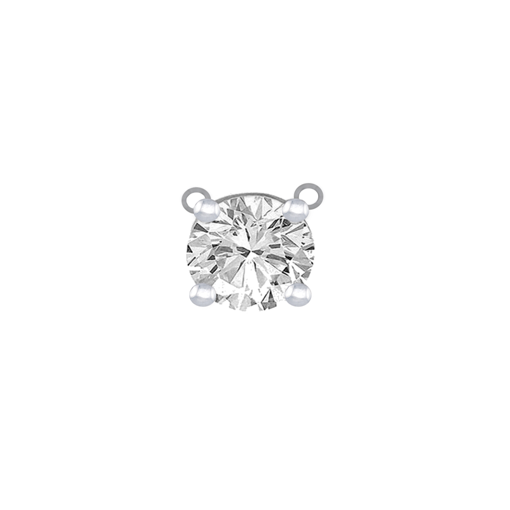Mesmerizing 18kt White Gold Solitaire Single Diamond Pendant-SDSOL-02D