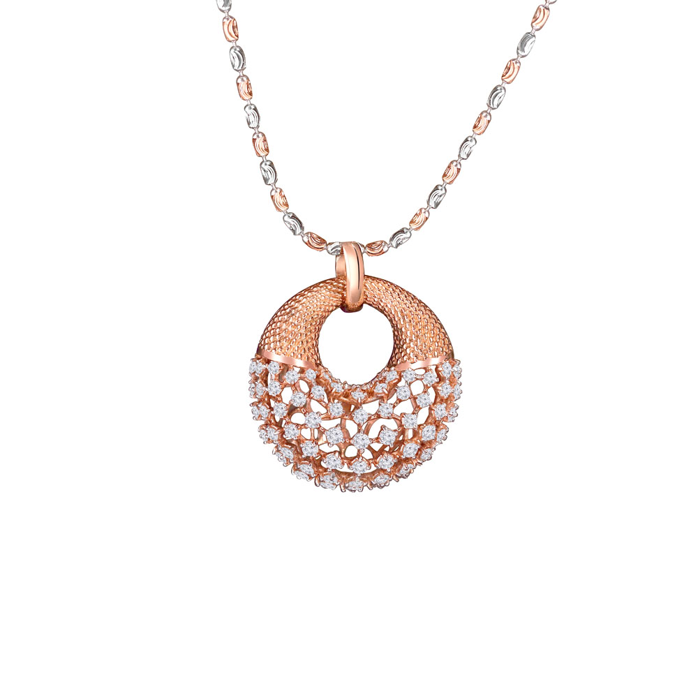 Trendy Handbag Concept Scattered Diamond Pendant -SPPK-03
