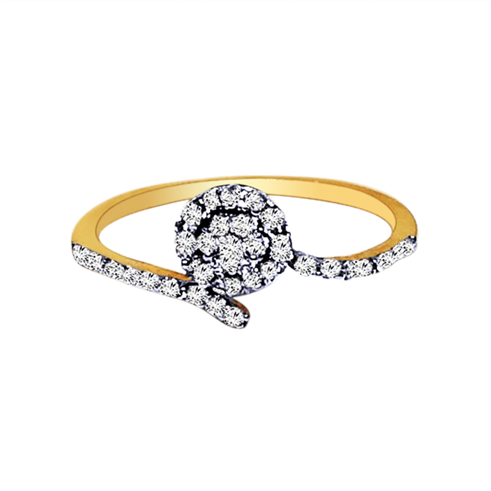 Designer Daily Wear Yellow Gold 18kt Rings-327-17rg1365