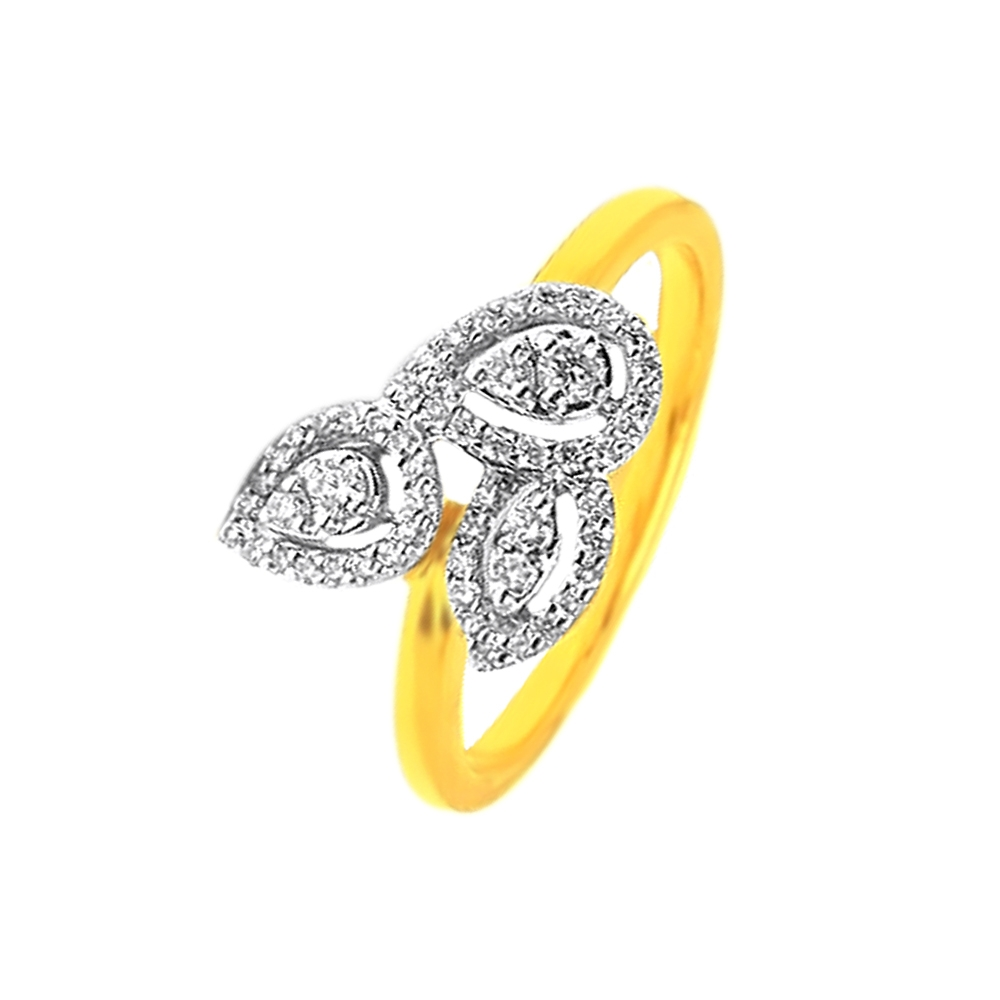 Leaf Daily Wear Yellow Gold 18kt Rings-327-LR17201A