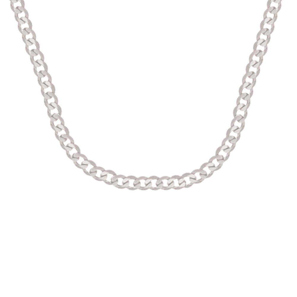 Mens Delight 925 Purity Curb Link Silver Chain For Men -S925CURUB03 S925CURUB03-1.jpg