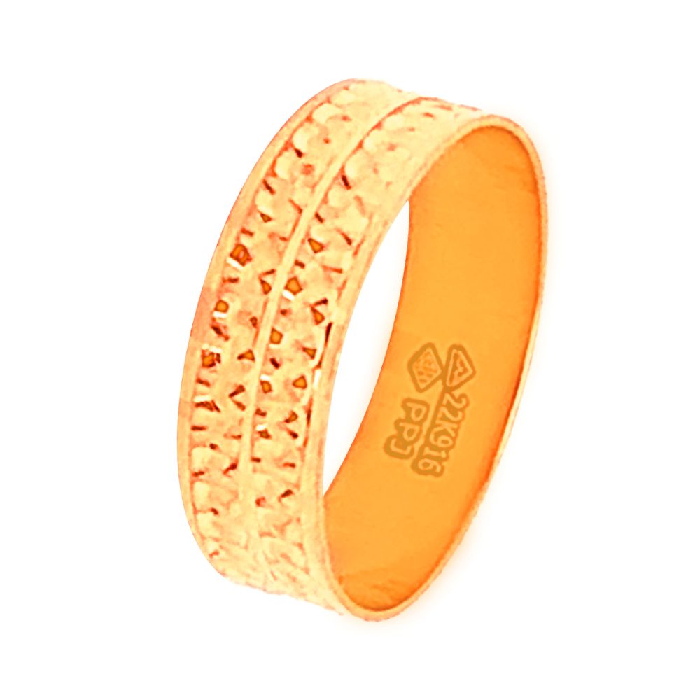 Elegant Contemporary Daily Wear Yellow Gold 22kt with Without Stone Rings-333-ppr2
