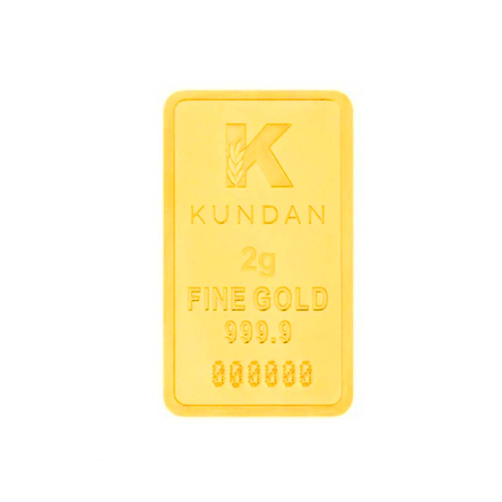 999 Purity 2 Gms Gifting Gold Bar -337-KJKC-2-999