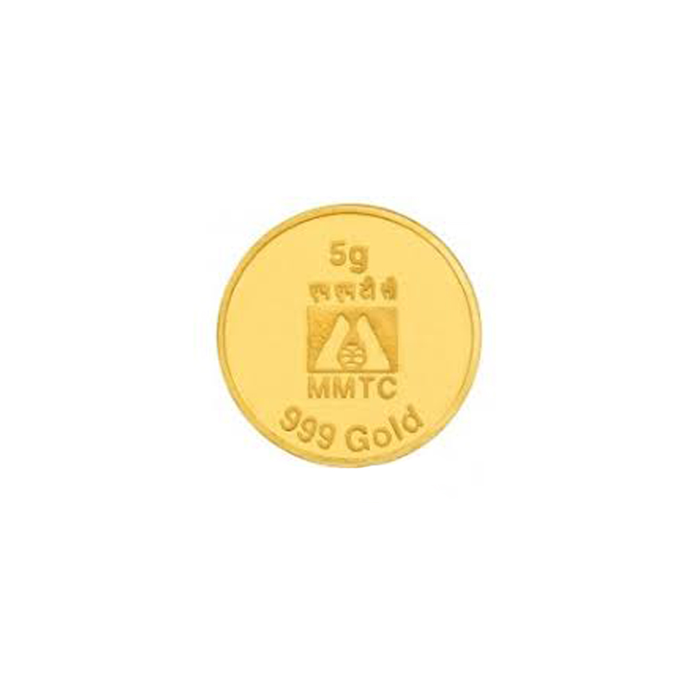 5 Grams 999 Purity Gold Coin-124-MMTCGC00501