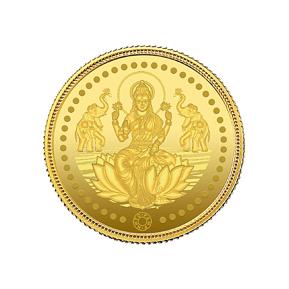 8 Grams 999 Purity Lord Lakshmi Gold Coin-Lakshmi8G