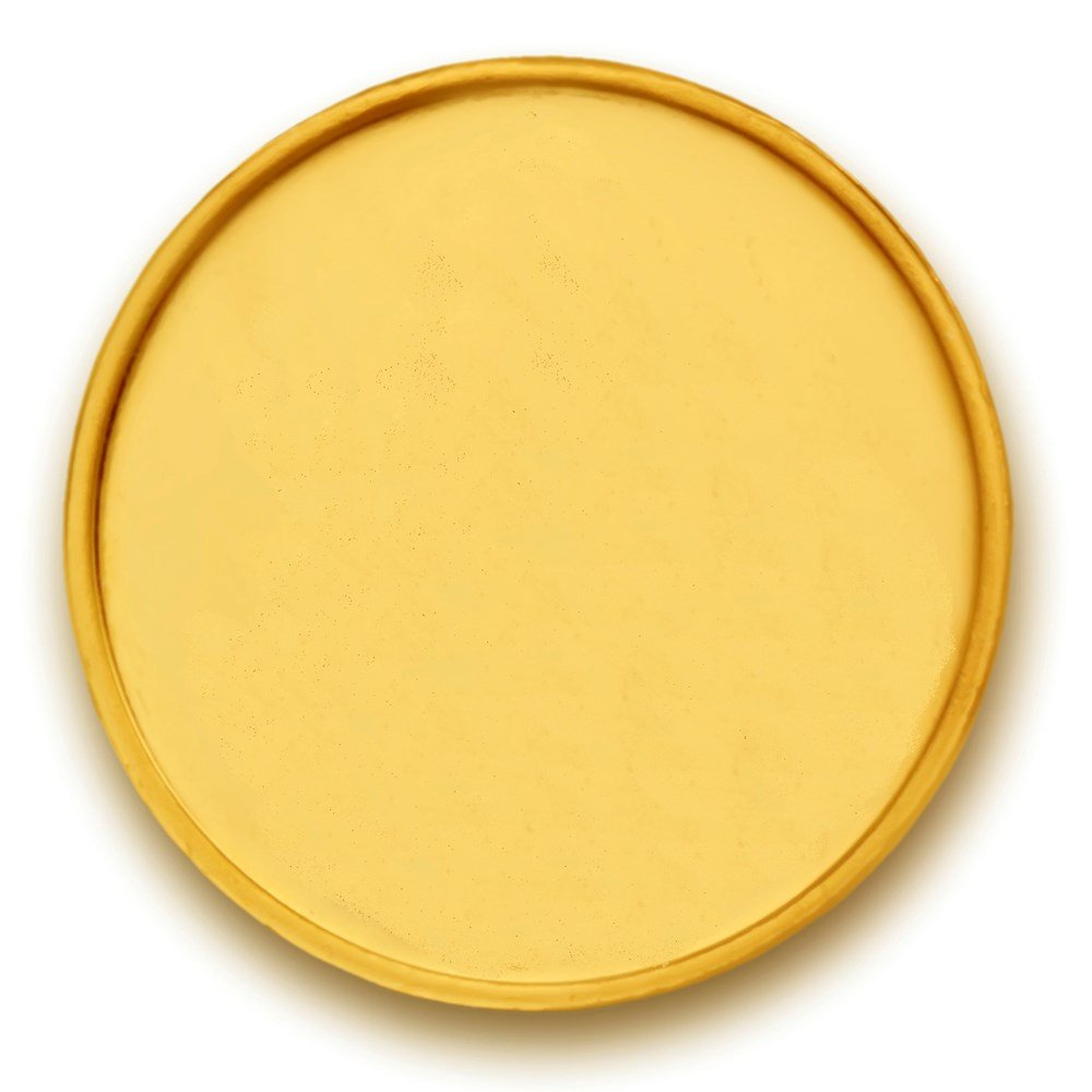 2 Grams 916 Purity Plain Yellow Gold Coin-350-VJ-GC2-1