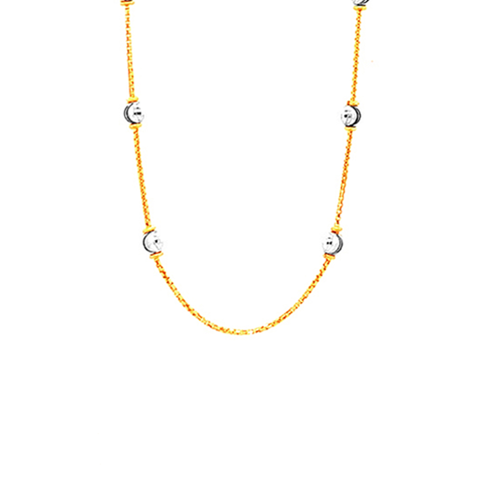 6.01 Grams 22kt Purity Two Tone Gold Ball Chain-sch0008