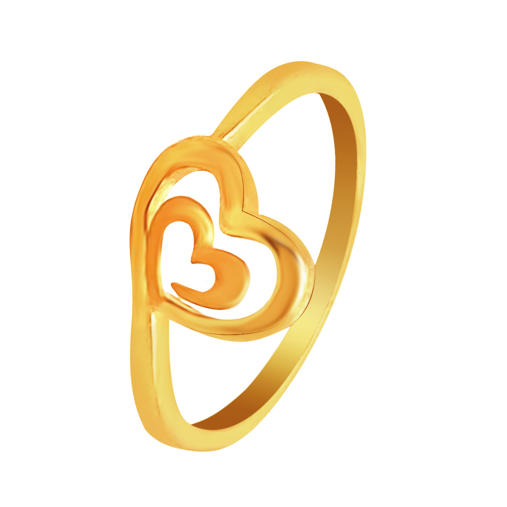 Delicate Hearts Yellow Gold 22kt Ring-shilpi1