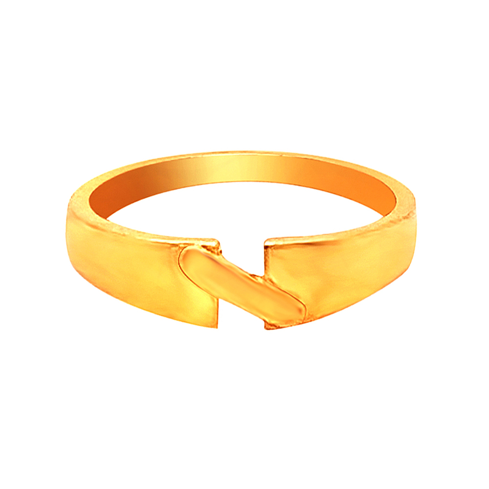 Unique Engraved Yellow Gold 22kt Gold Ring For Her-shilpi12