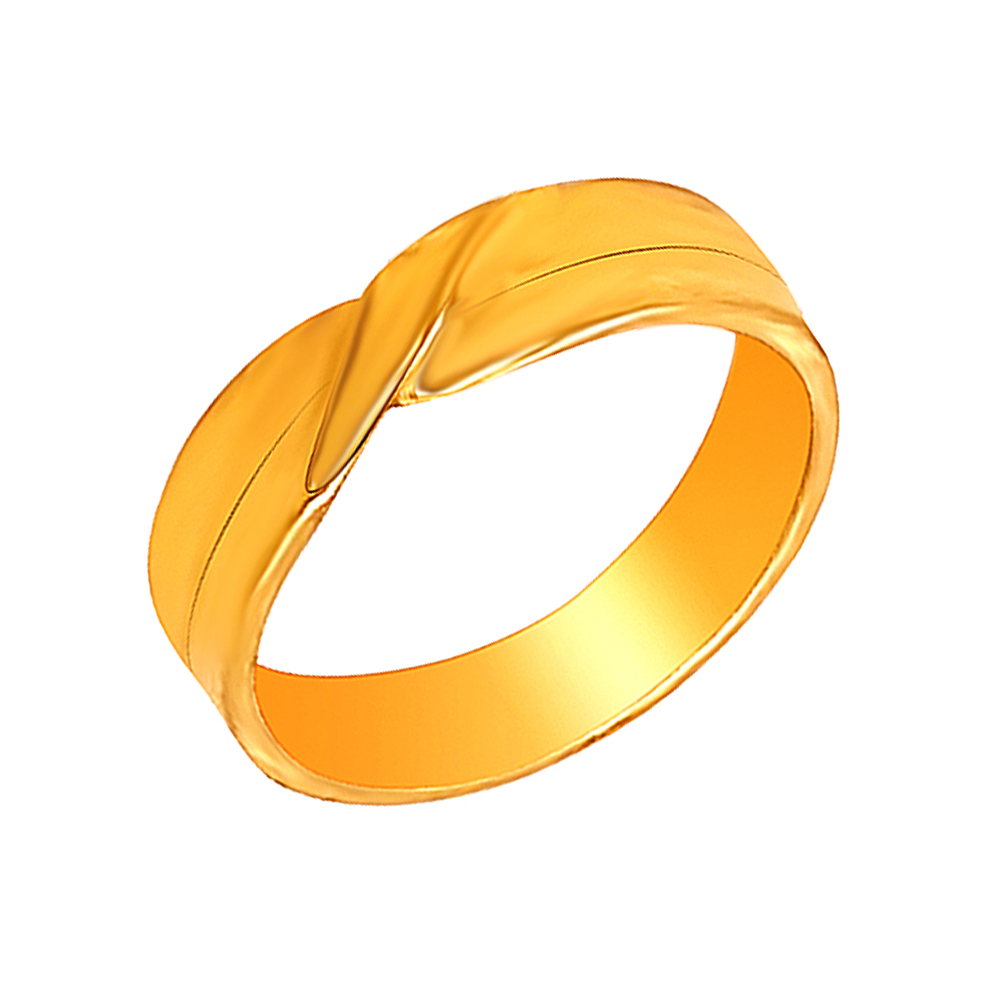 Unique Engraved Yellow Gold 22kt Couple Band For Him-shilpi15