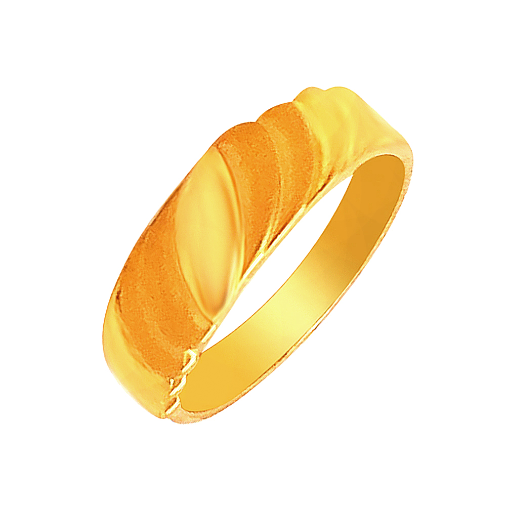 Elegant Engraved Yellow Gold 22kt Couple Band For Him-shilpi20
