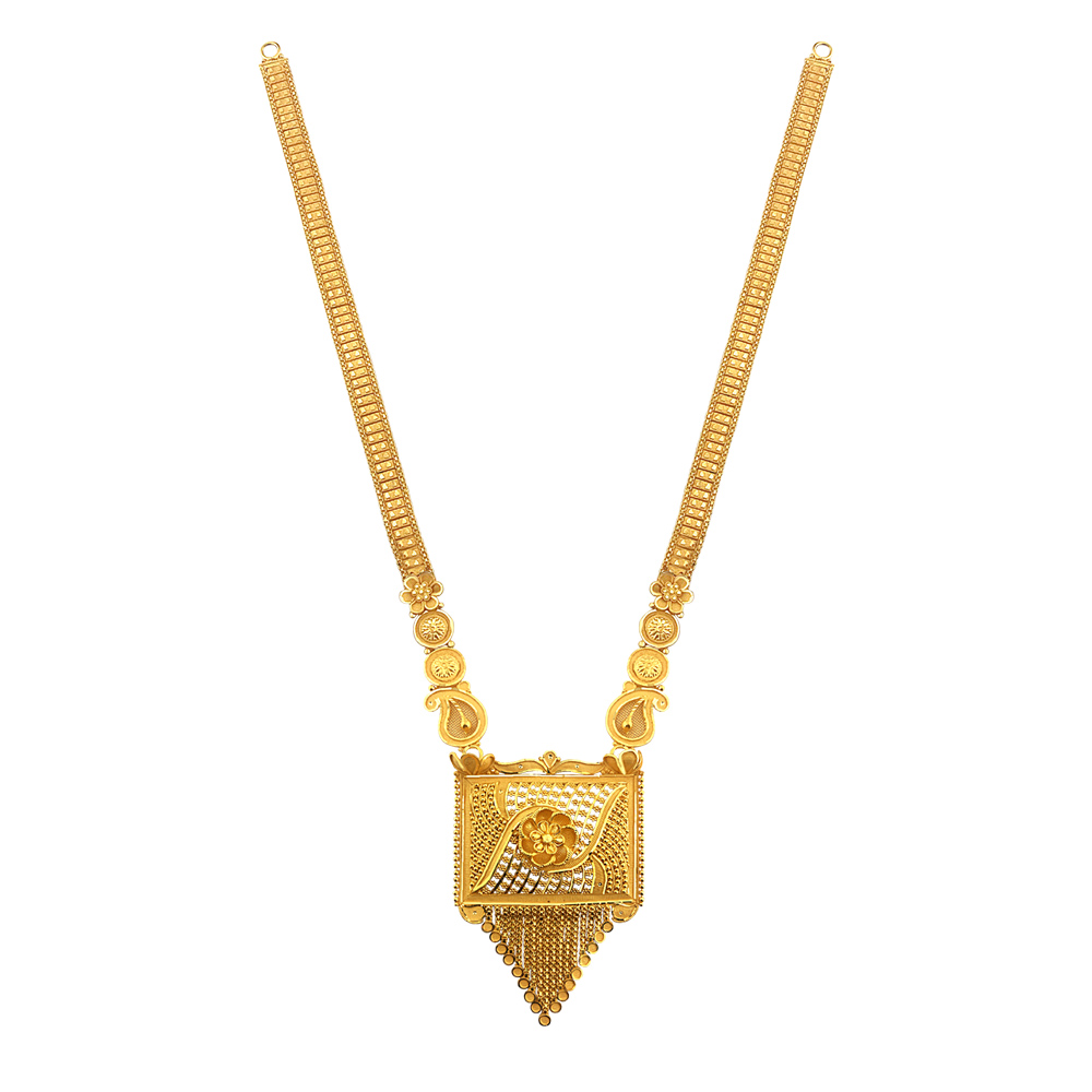 Gold Ceremonial Traditional Wedding Yellow Gold 22kt Necklace-GR-20030700481 GR-20030700481-1.JPEG