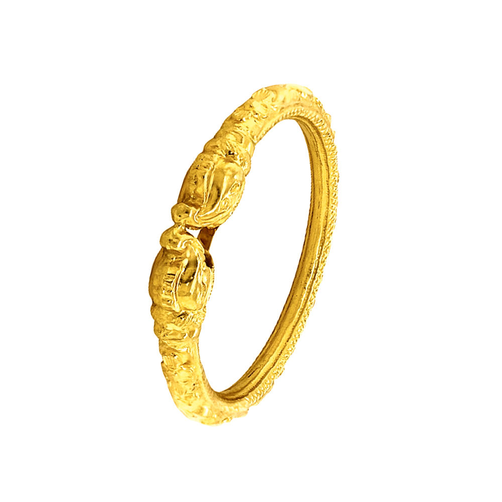 Gold Ceremonial Traditional Yellow Gold 22kt Bangle (Single Piece)-BN409 BN409-1.jpg