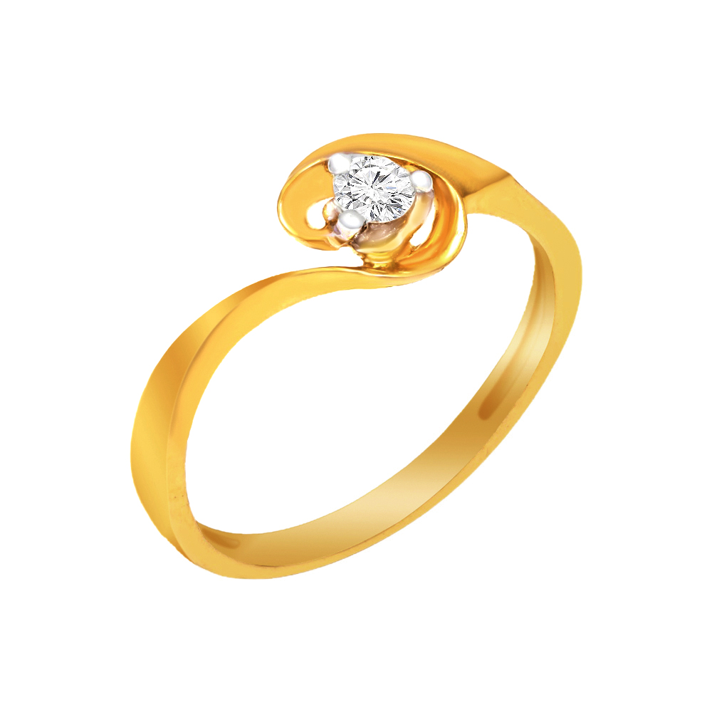 Solitaire Daily Wear Yellow Gold 14kt Rings-397-R291