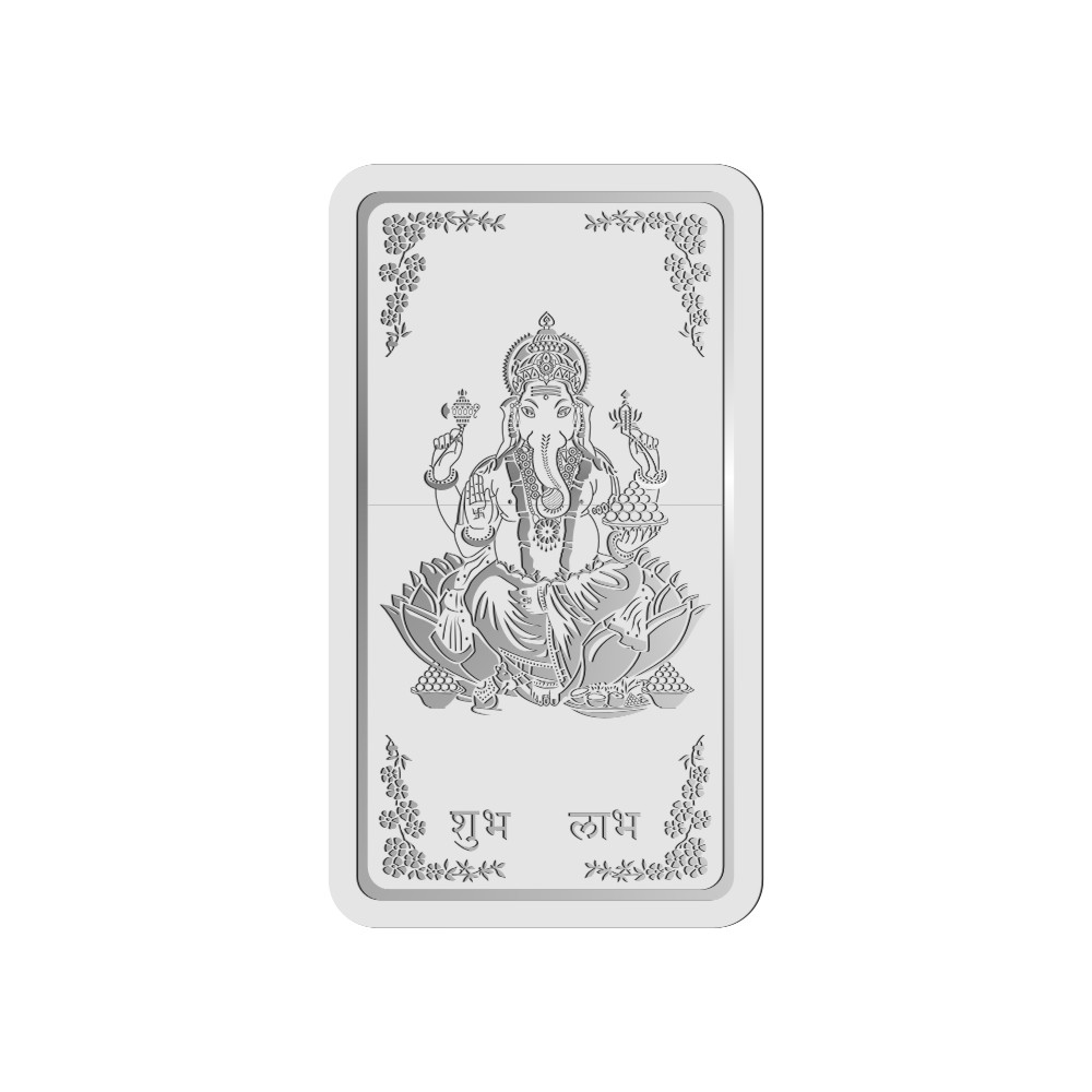 100 Grams 999 Purity Ganesh Silver Note - 398-OMPL100GSB