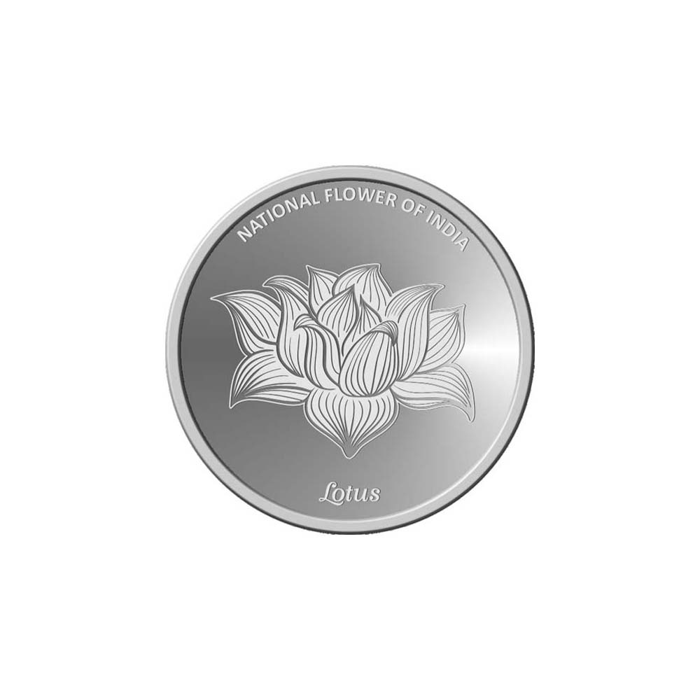 10 Grams 999 Purity National Flower of India-Lotus White Silver Coin-398-OMPL10R47 OMPL10R47-1.jpg