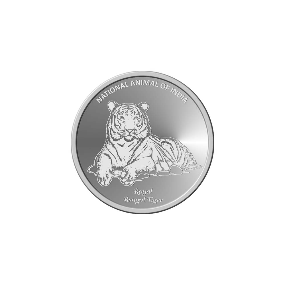 10 Grams 999 Purity National Animal of India-Tiger White Silver Coin-398-OMPL10R48 OMPL10R48-1.jpg