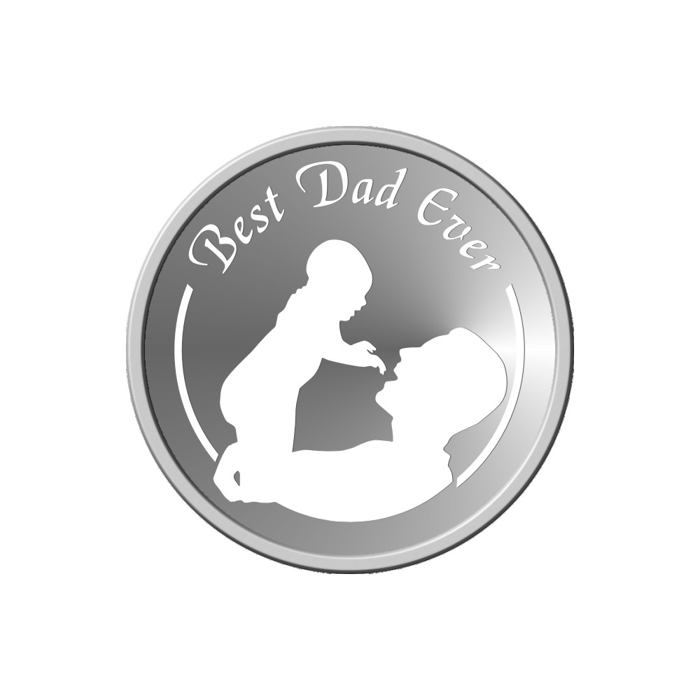 10 Grams 999 Purity Father's Day Silver Coin -398-OMPL10R6
