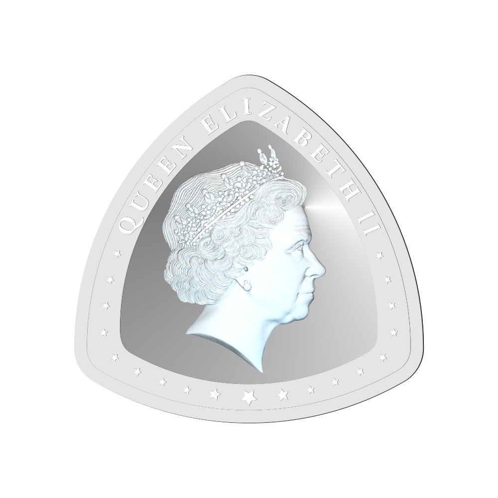 10 Grams 999 Purity Queen Elizabeth II Triangle Shape White Silver Coin-398-OMPL10TR4 OMPL10TR4-1.jpg