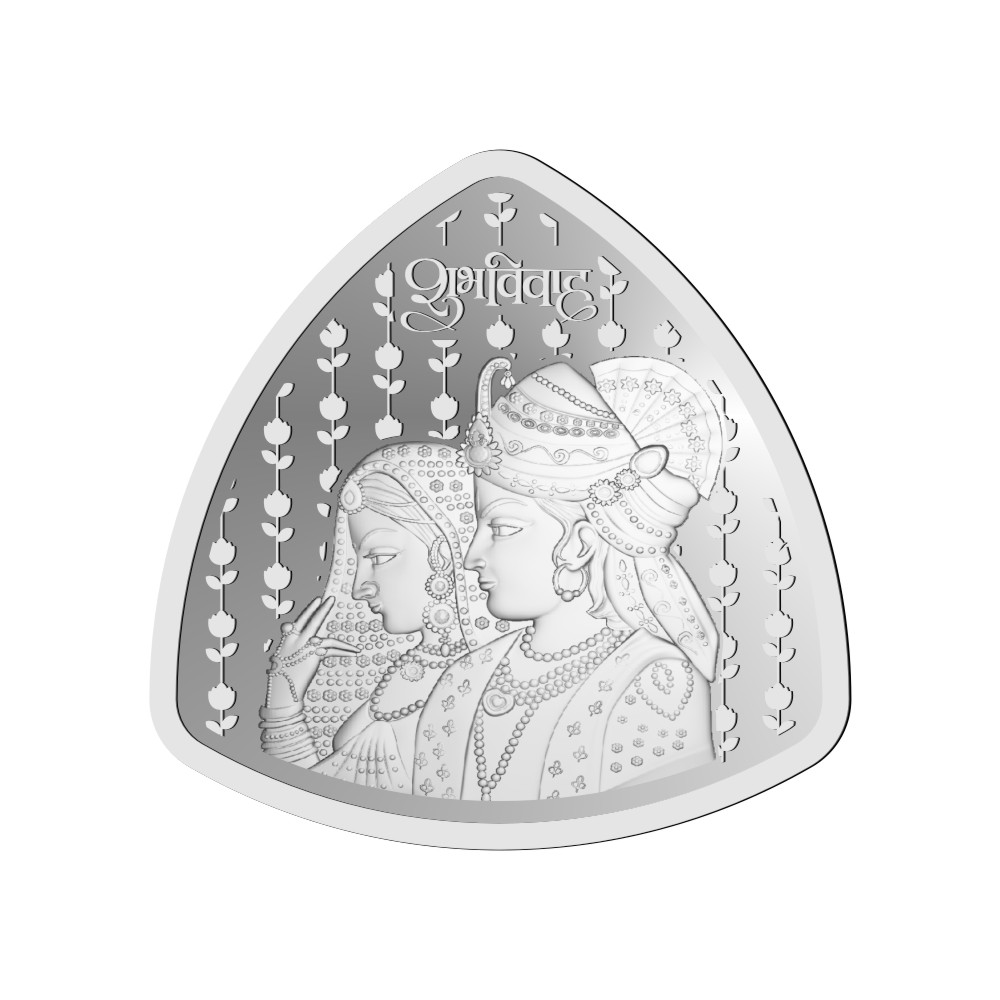 50 Grams 999 Purity Shubh Vivah Triangle Silver Coin-OMPL50TR1