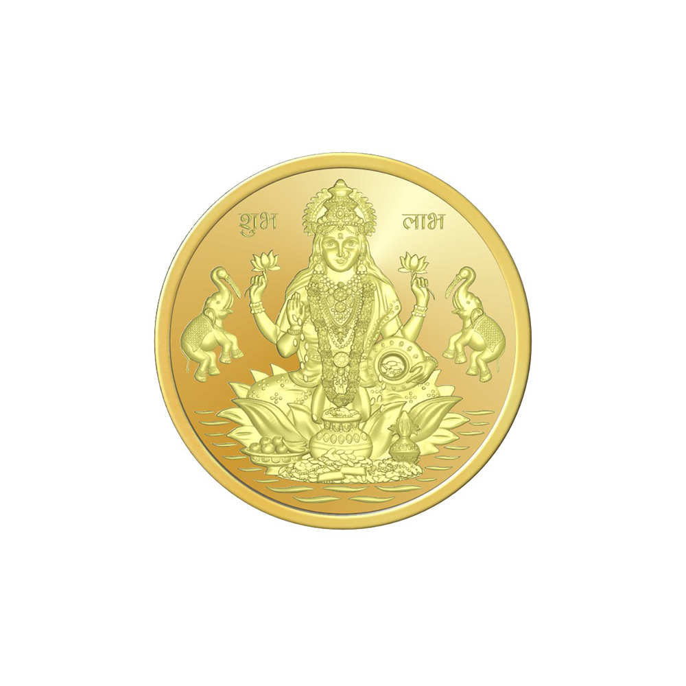 Coins And Bars 5 Grams 999 Purity Lakshmi Gold Coin  OMPL5LGC-1.jpg