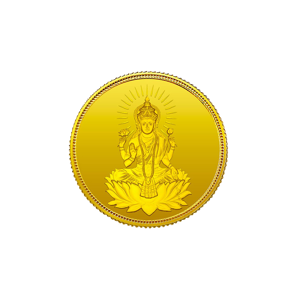 Gold 5 Grams 999 Purity Goddess Lakshmi MMTC PAMP Yellow Gold Coin-MPLGC5 MPLGC5-1.jpg