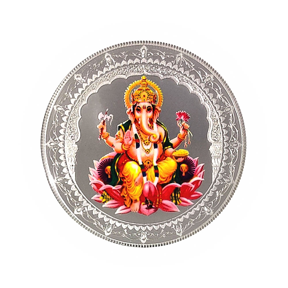 Silver 20 Grams Purity 999 Lord Ganesh MMTC PAMP White Silver Coin-409-MPSG20 MPSG20-1.jpg