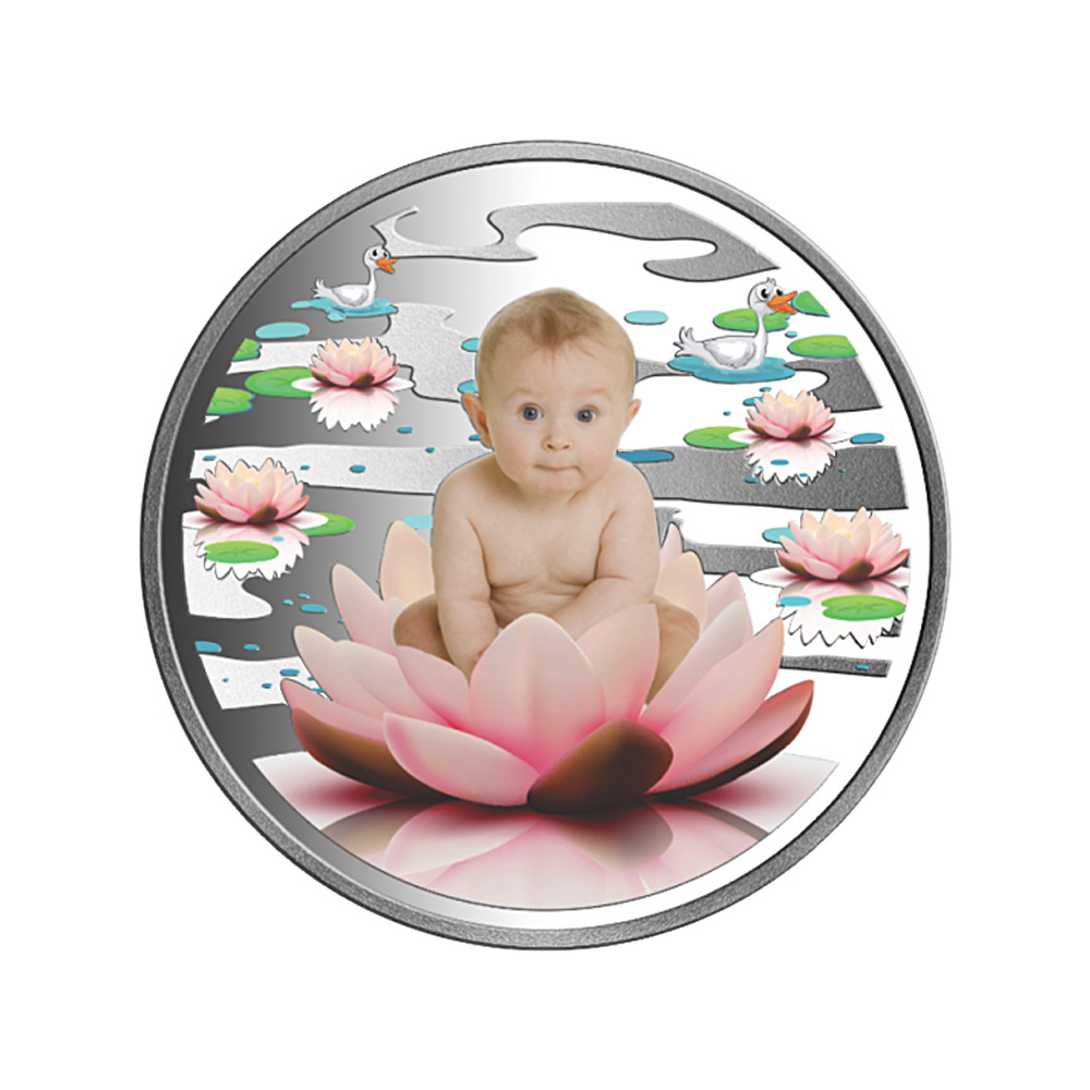 50 Grams 999 Purity Lotus Floral Baby Silver Coin-COINCRAFTFLOWERBABY50GMS COINCRAFTFLOWERBABY50GMS-1.jpg